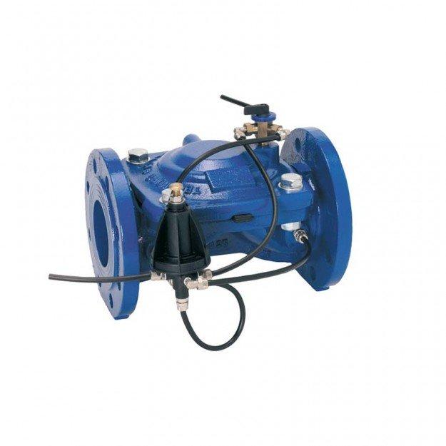 Хидравличен вентил чугун регулатор на налягане с пл. пилот DN 150
