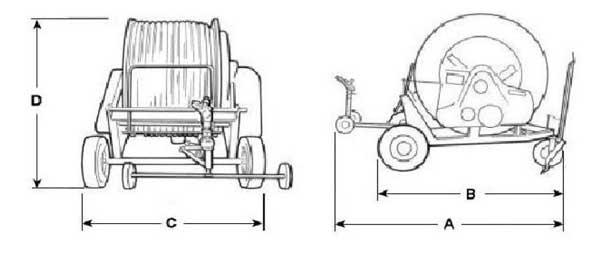 Размери на дъждовални машини F010 B серия